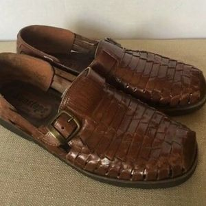 f8f67a2a70c SUNSTEPS Men s Brown Leather Woven Casual Loafers